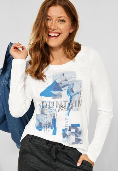 CECIL - Shirt mit Fotoprint in Pure Off White