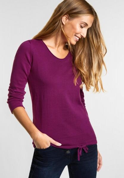 CECIL - Pullover mit V-Ausschnitt in Fuchsia Pink