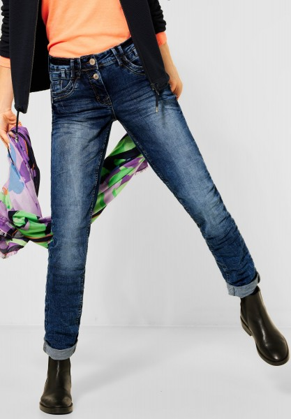 CECIL - Mittelblaue Loose Fit Denim in Mid Blue Wash