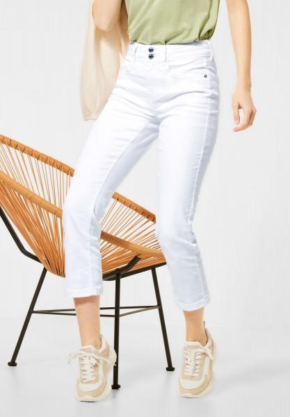 Street One - Slim Fit Hose in Unifarbe in White