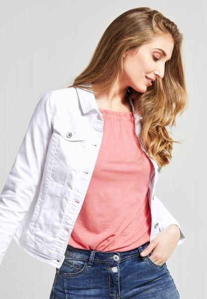 Jeansjacke mit Stickerei in White von CECIL online kaufen