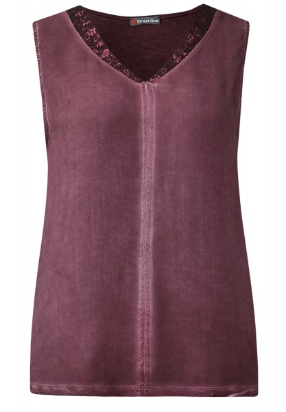 Street One - Paillettentop Falka Night Plum