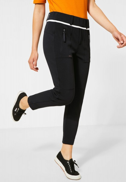 Street One - Hose im Joggpants-Style in Black