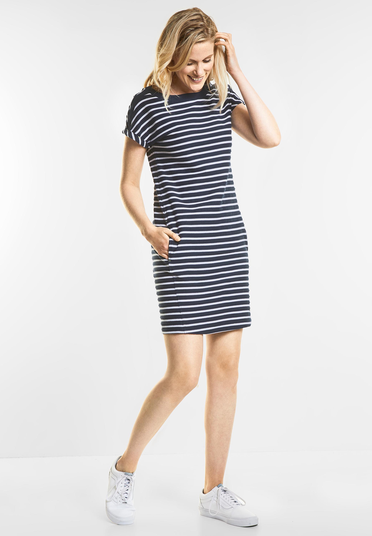 14460455bd59 Lässiges Streifen Kleid in Deep Blue von CECIL online kaufen