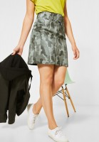 Street One - Denimrock mit Camouflage in Green Camou Print