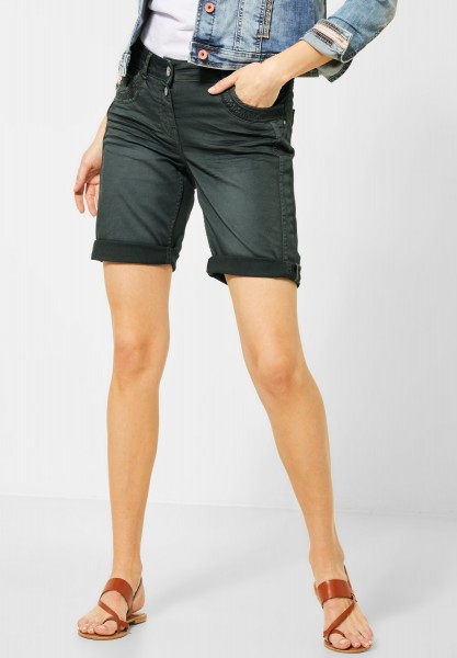 CECIL - Loose Fit Shorts in Slate Green