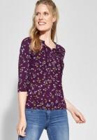 CECIL - Shirt mit Blumenprint Felia in Deep Berry