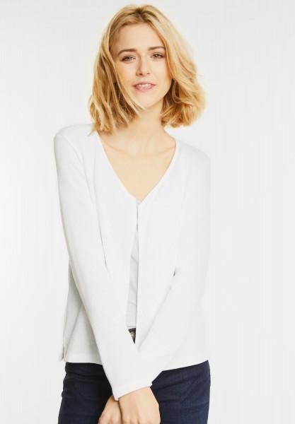 Street One - Offene Basic Jacke Nette in Off White