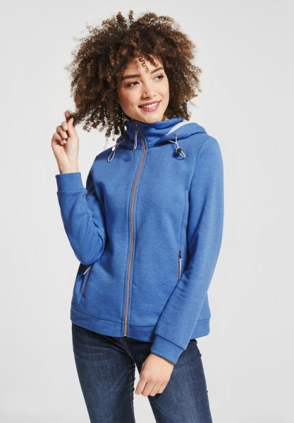 Street One - Softe Hoodie Jacke in Sky Blue