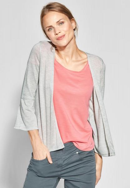 CECIL - Shirtjacke mit Volant Ärmeln in Light Tin Melange