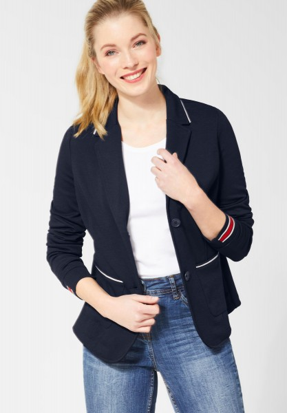CECIL Sweatblazer im College-Style in Deep Blue