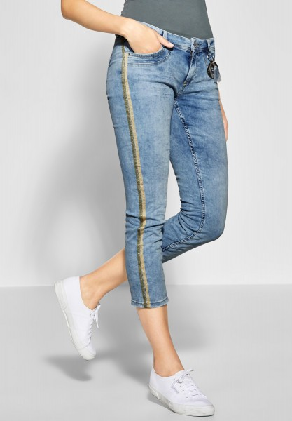 Street One - Denim mit Glitzergalon Jane in Light Blue Acid Washed