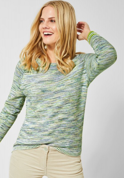 CECIL - Mouliné Pullover in Lucky Clover Green