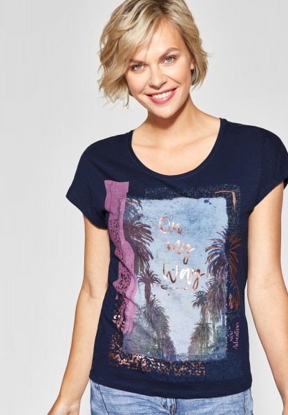 CECIL - Shirt mit Fotoprint in Deep Blue