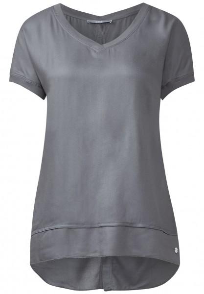 CECIL - Hinten geknöpfte Shirtbluse Graphit Light Grey