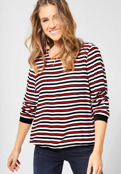 CECIL - Shirt mit bunten Streifen in Black